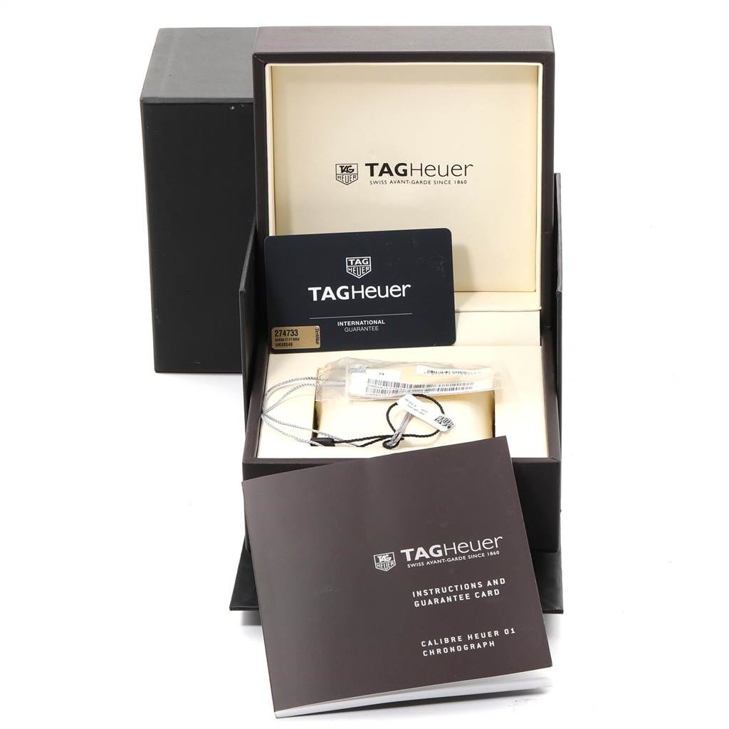 23799 TAG Heuer Carrera Calibre Heuer 01 Skeleton Mens Watch CAR2A1T Box Card SwissWatchExpo
