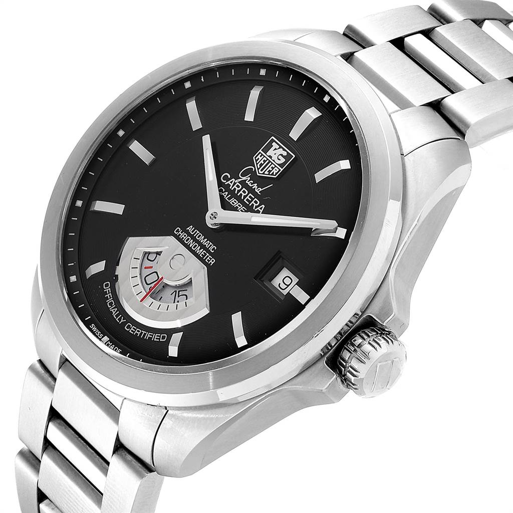 23813 Tag Heuer Carrera Black Dial Automatic Mens Watch WAV511A SwissWatchExpo