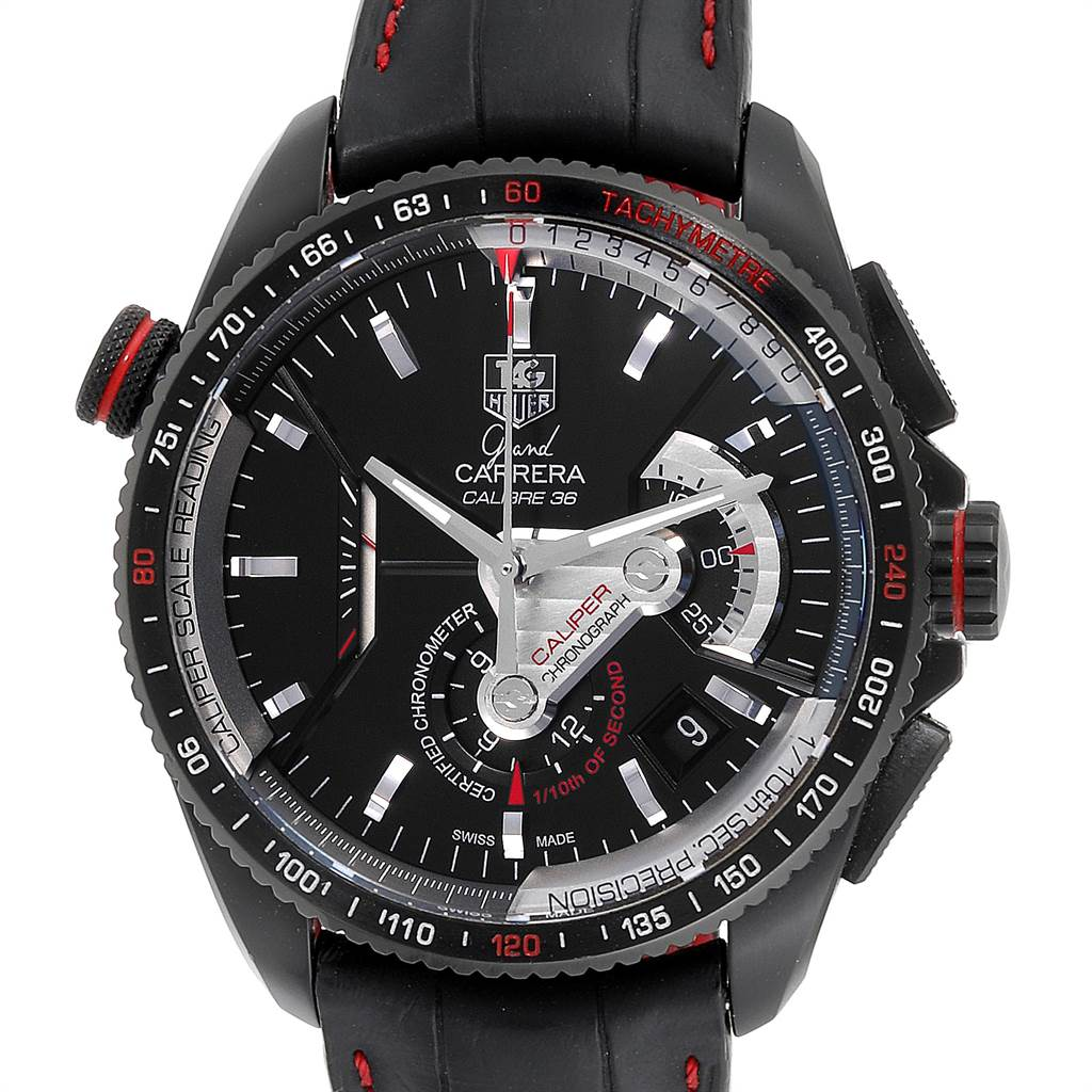 Tag Heuer Grand Carrera 36 RS Caliper PVD Titanium Watch CAV5185.FC6237