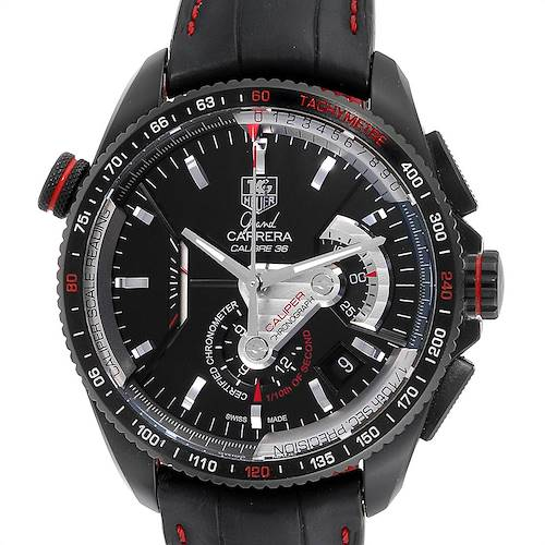 Photo of Tag Heuer Grand Carrera 36 RS Caliper PVD Titanium Watch CAV5185.FC6237