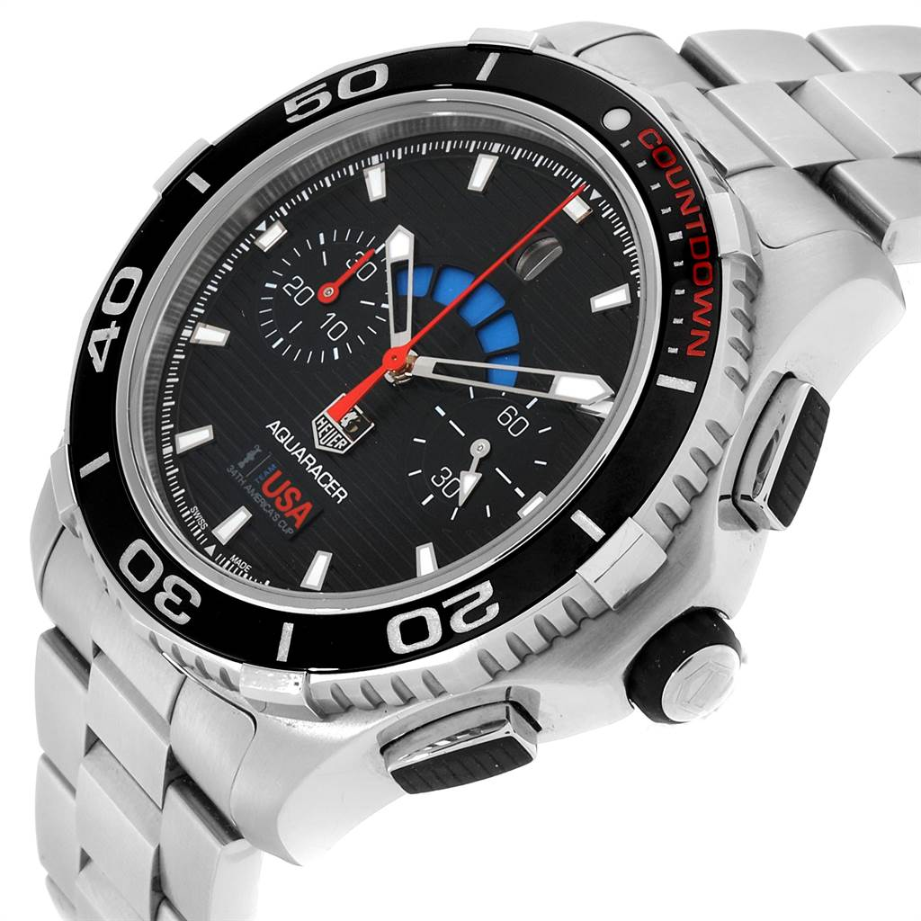 Tag Heuer Aquaracer Oracle Team USA Countdown LE Mens Watch CAK211B SwissWatchExpo