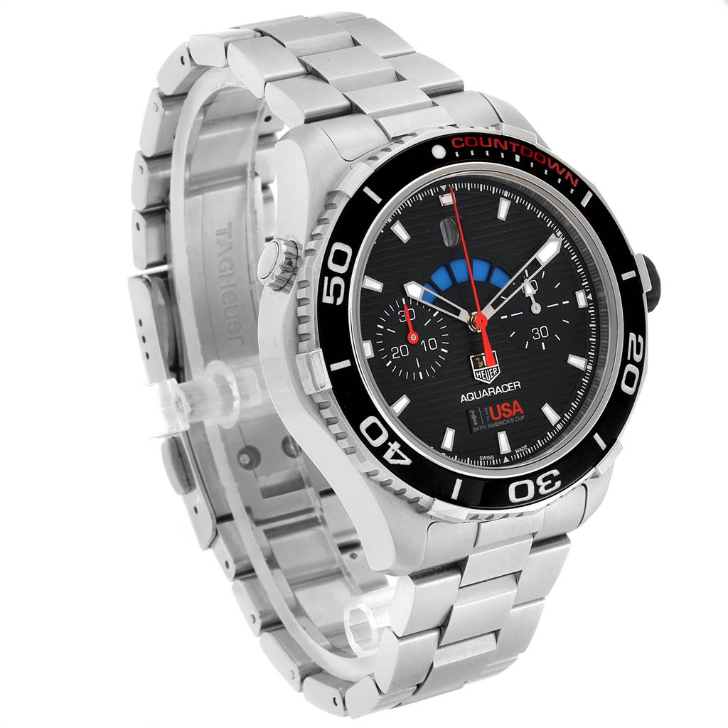23949 Tag Heuer Aquaracer Oracle Team USA Countdown LE Mens Watch CAK211B SwissWatchExpo