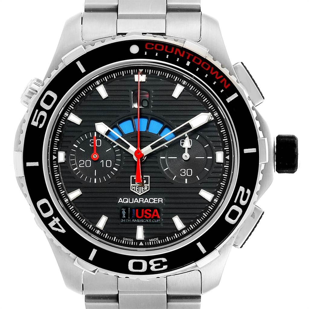 Tag Heuer Aquaracer Oracle Team USA Countdown LE Mens Watch CAK211B
