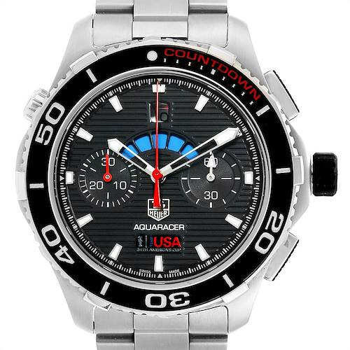 Photo of Tag Heuer Aquaracer Oracle Team USA Countdown LE Mens Watch CAK211B