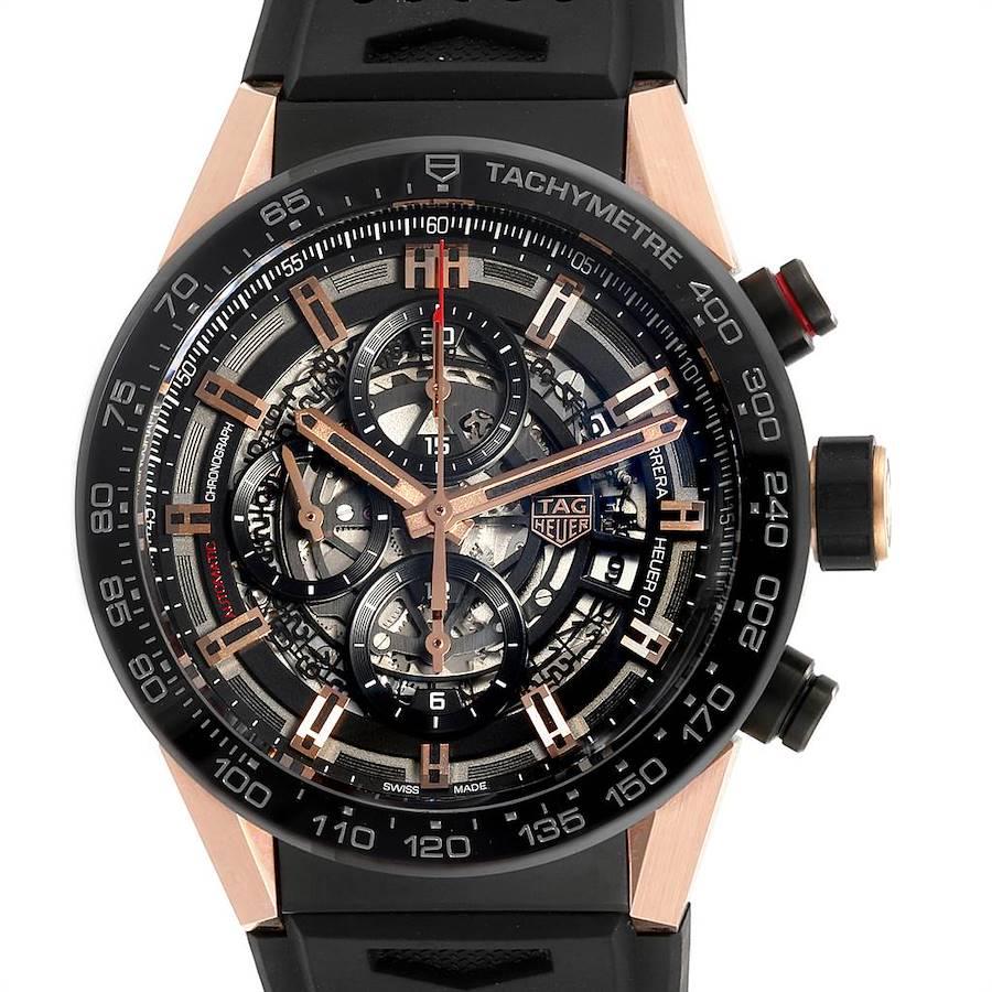Tag Heuer Carrera 43mm Caliber Heuer 01 Skeleton Watch CAR205A Unworn SwissWatchExpo