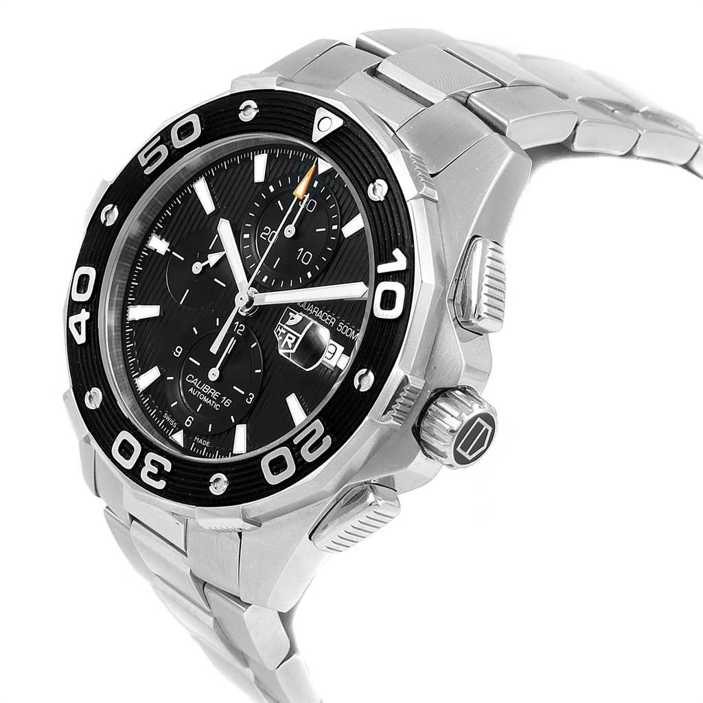 Tag Heuer Aquaracer Black Dial Steel Mens Watch CAJ2110 Card SwissWatchExpo