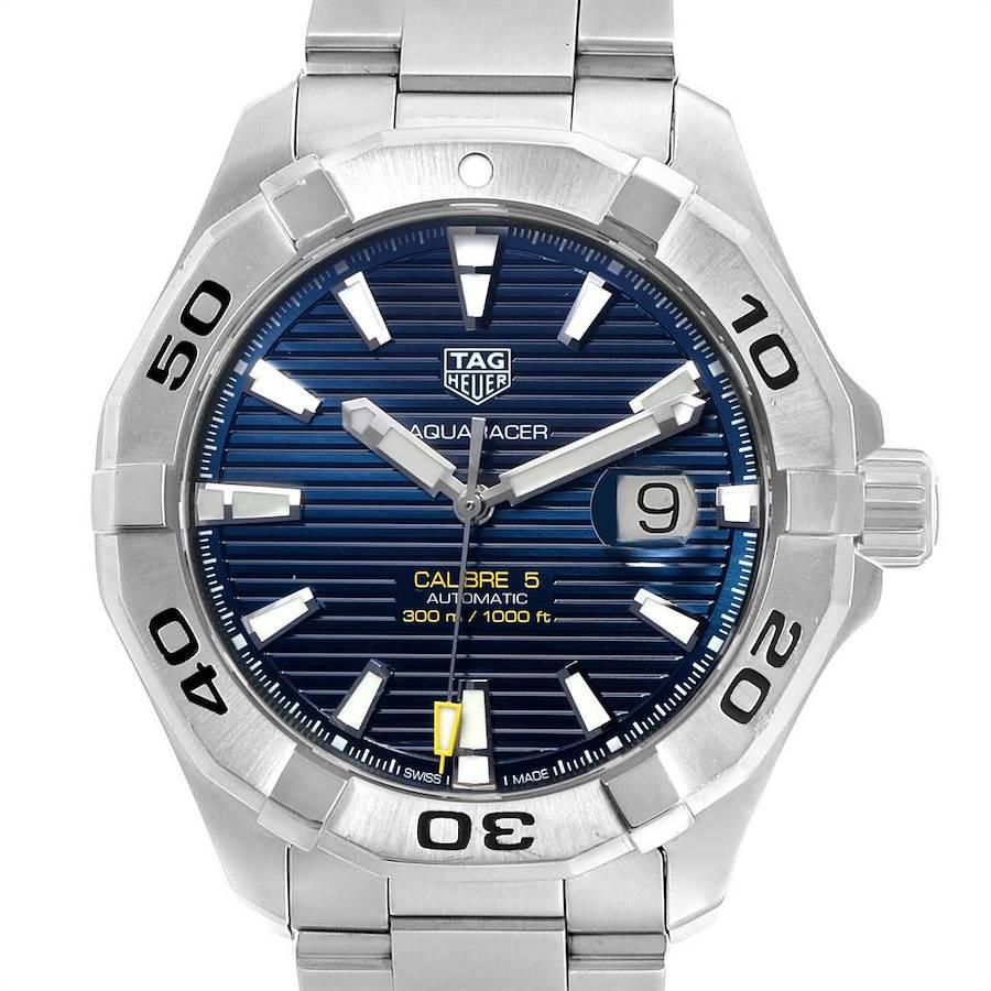 Tag Heuer Aquaracer Blue Dial Steel Mens Watch WAY2012 SwissWatchExpo