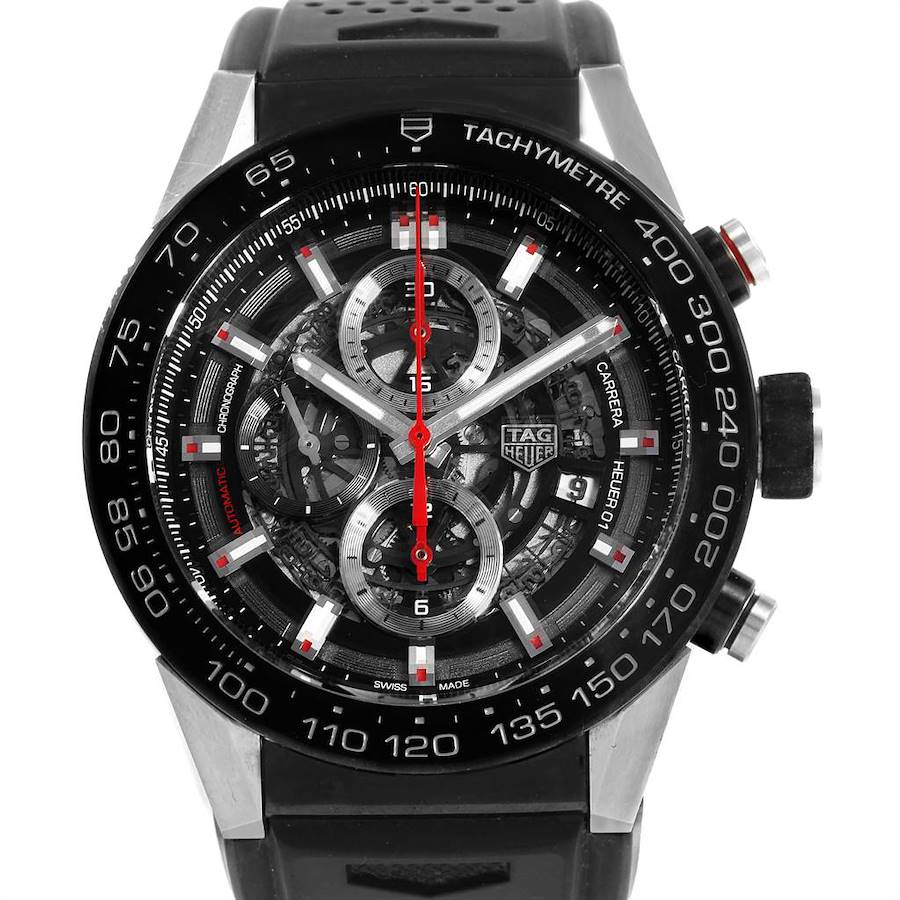 TAG Heuer Carrera Calibre Heuer 01 Skeleton Dial Mens Watch CAR2A1Z SwissWatchExpo