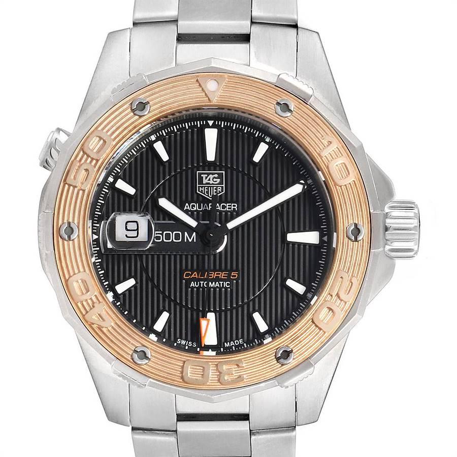 Tag Heuer Aquaracer 43mm Steel Rose Gold Mens Watch WAJ2150 SwissWatchExpo
