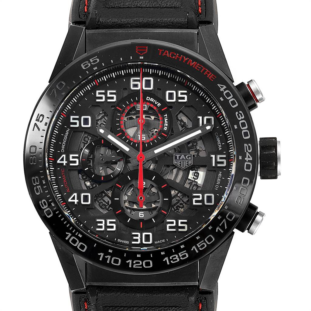 TAG Heuer Carrera Calibre 01 Skeleton Mens Watch CAR2A1H Box Card SwissWatchExpo