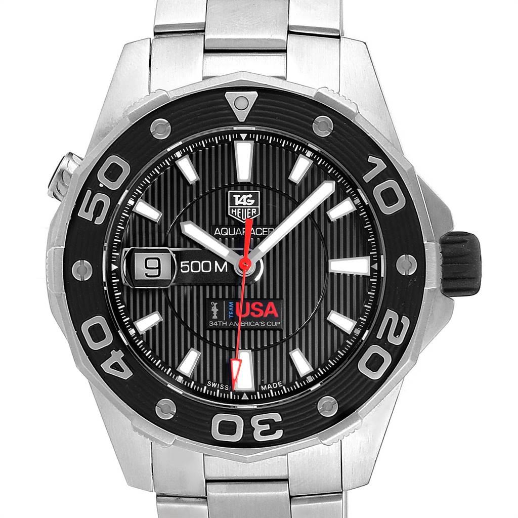 Tag Heuer Aquaracer 43mm Steel Mens Watch WAJ2150 SwissWatchExpo