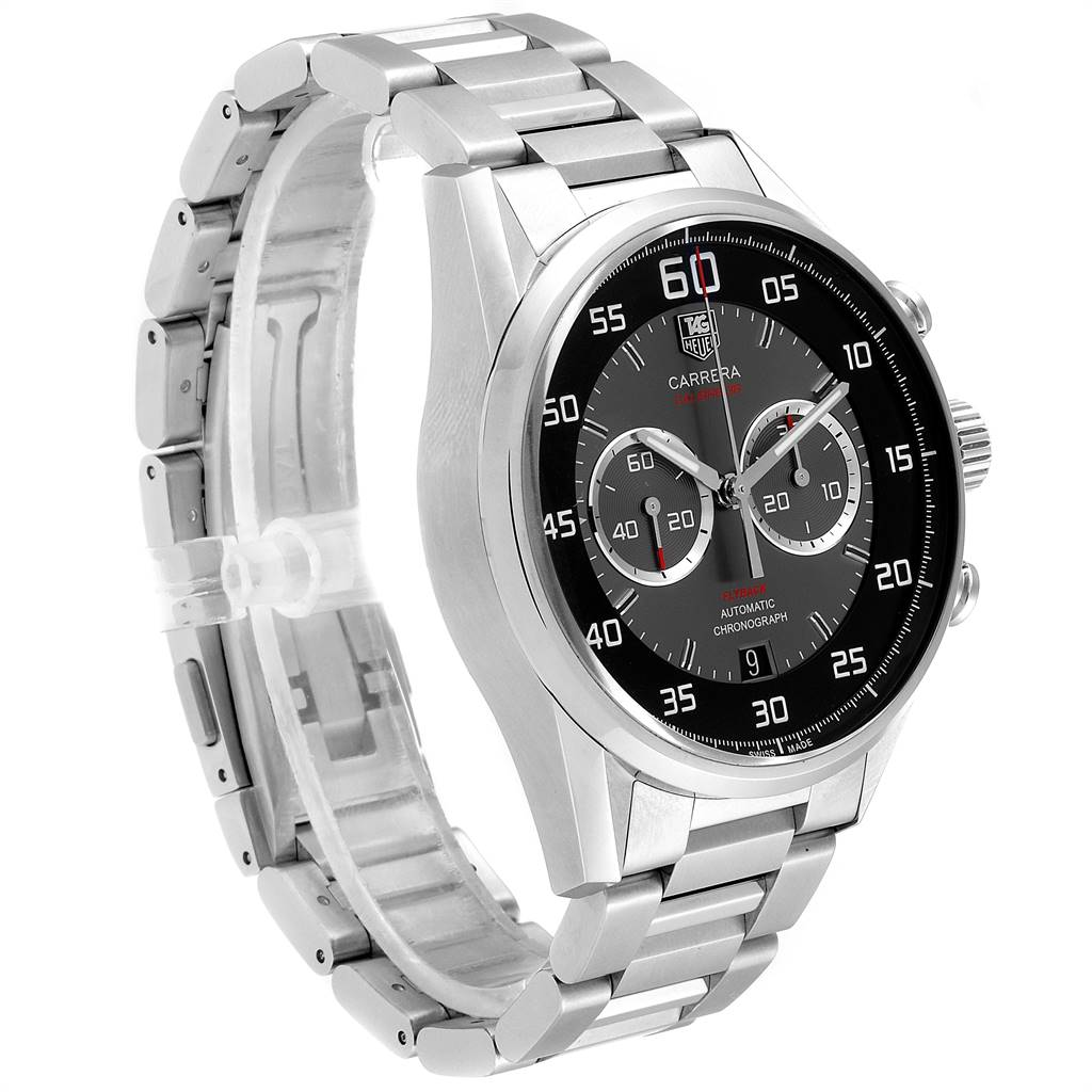 24122 Tag Heuer Carrera Automatic Flyback Steel Mens Watch CAR2B10 SwissWatchExpo