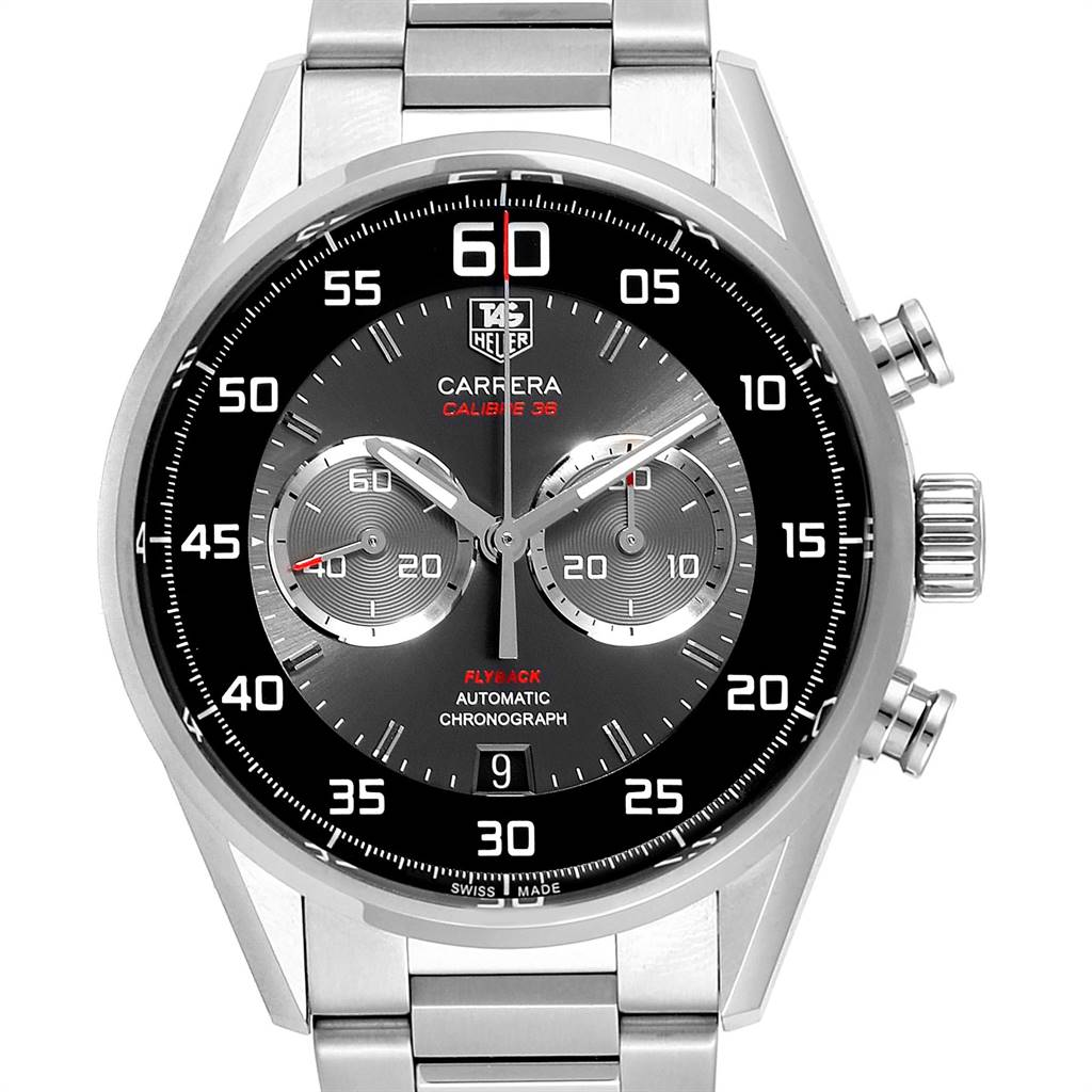 Tag Heuer Carrera Automatic Flyback Steel Mens Watch CAR2B10