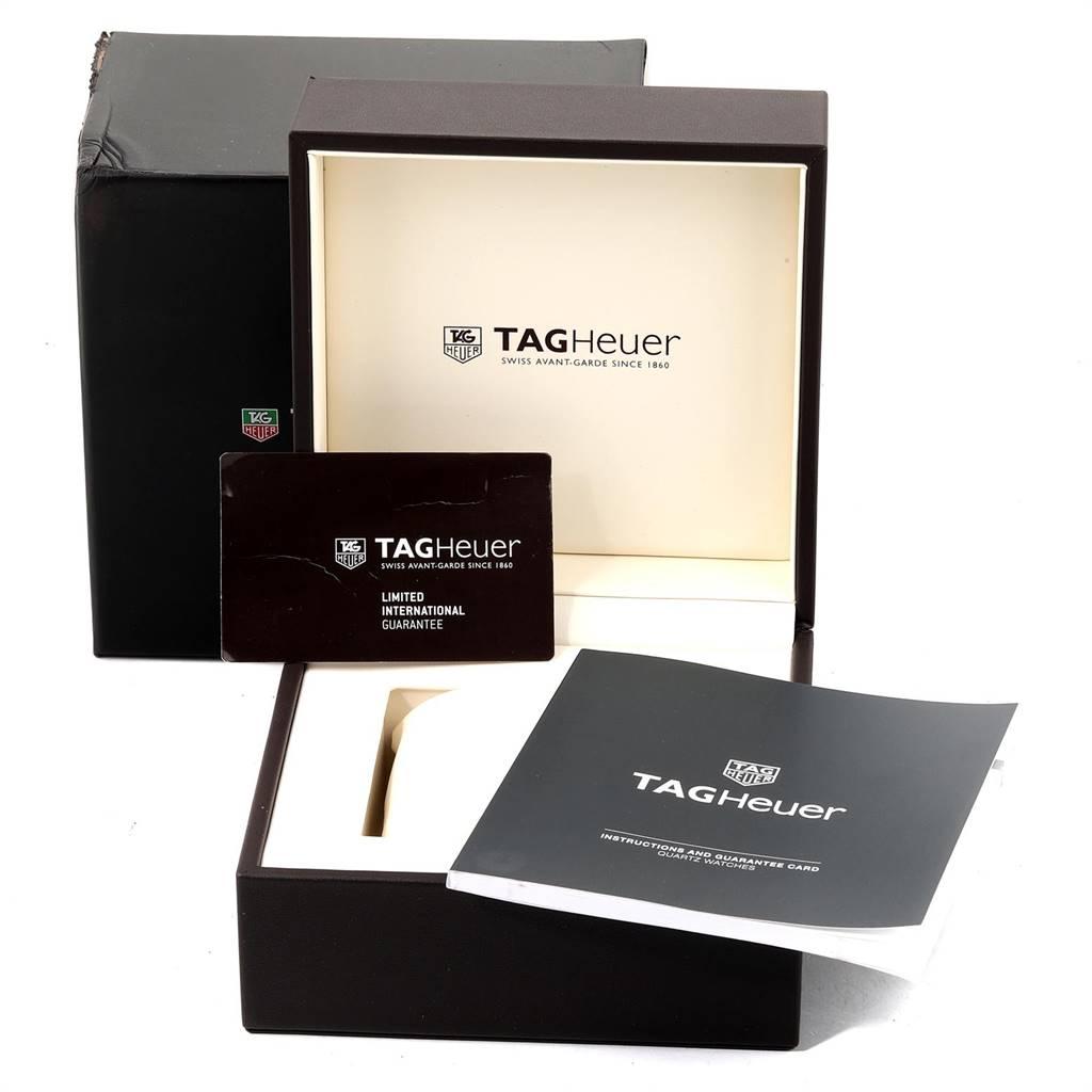 24512 Tag Heuer Aquaracer Calibre 5 Steel Mens Watch WAY201A Box Card SwissWatchExpo