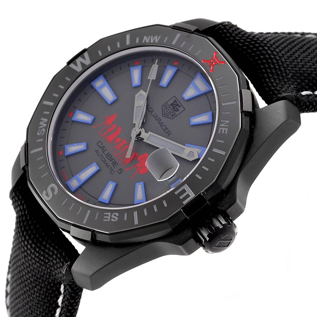 24710 Tag Heuer Aquaracer Calibre 5 One Piece Special Edition Watch WAY218C Unworn SwissWatchExpo