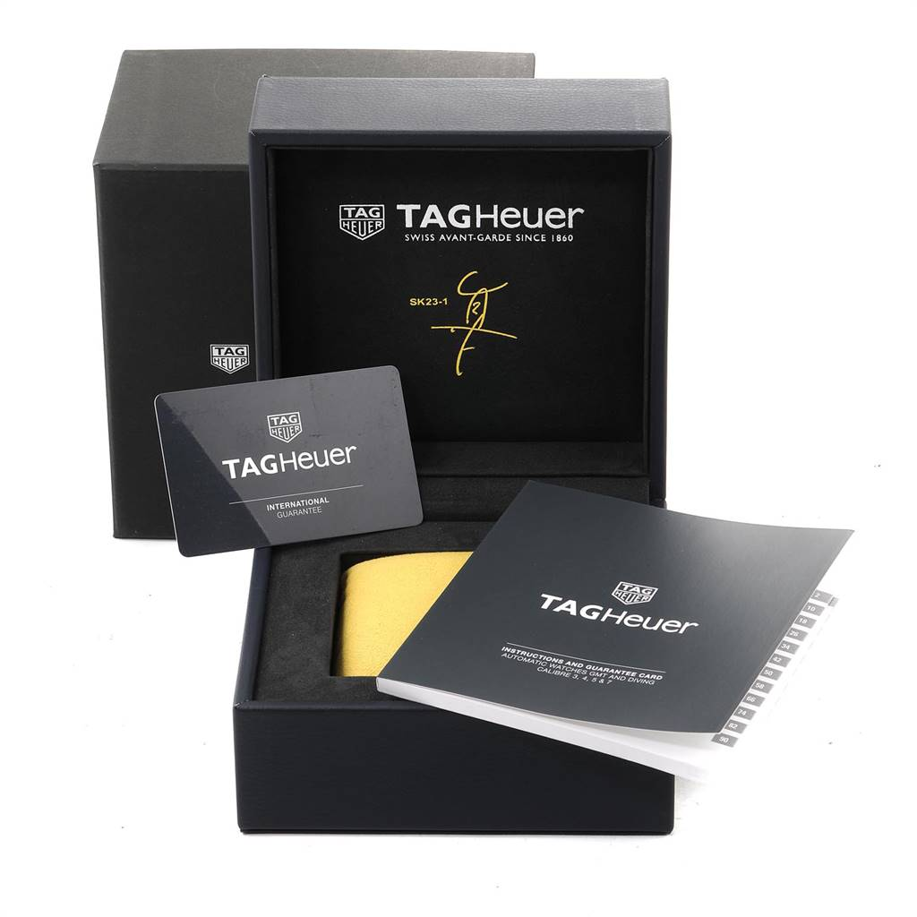 Tag Heuer Aquaracer Shinji Kaga Limited Edition Watch WAY201H Box Card SwissWatchExpo