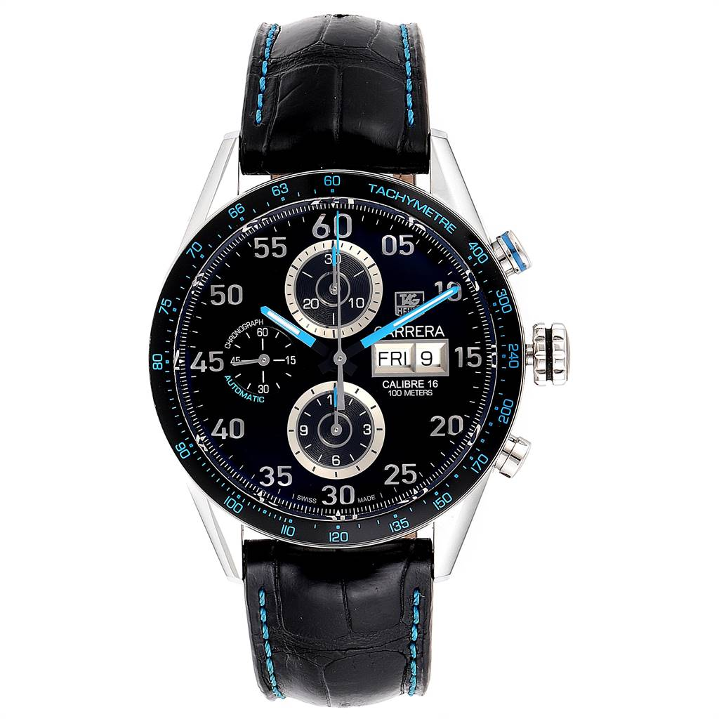 25030 Tag Heuer Carrera Day Date Limited Edition Mens Watch CV2A1C Box Card SwissWatchExpo