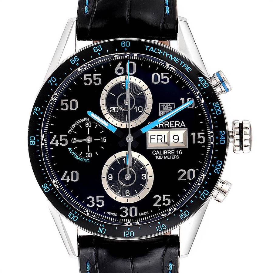 Tag Heuer Carrera Day Date Limited Edition Mens Watch CV2A1C Box Card SwissWatchExpo