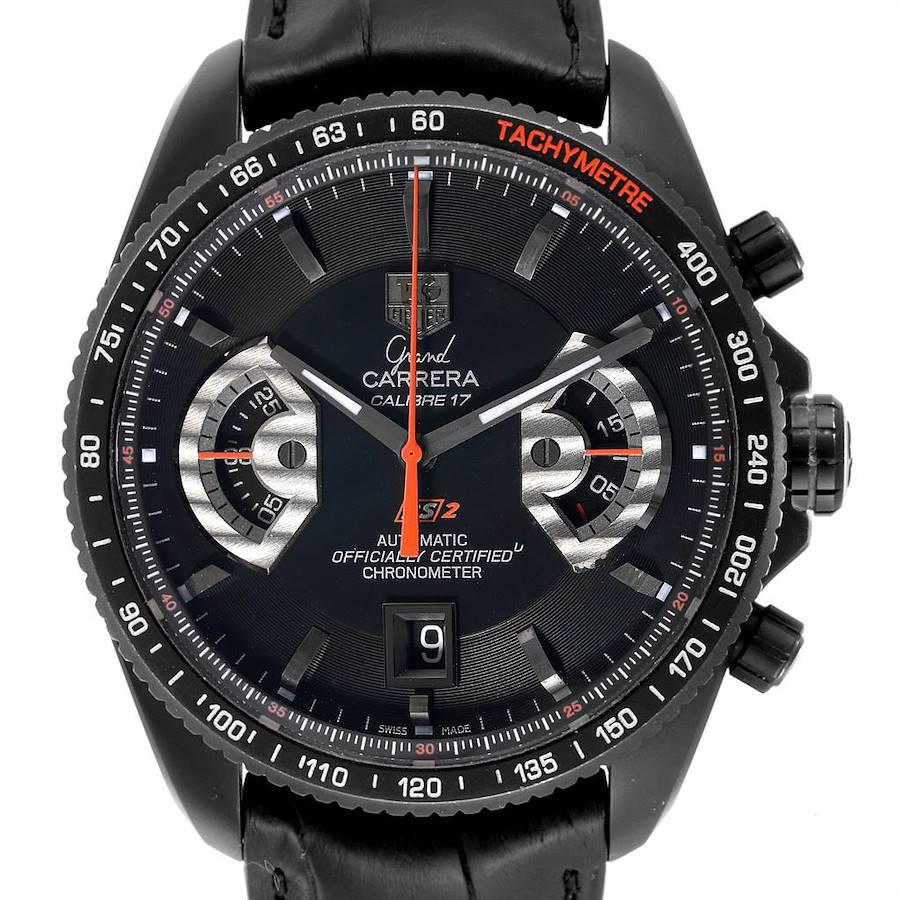 Tag Heuer Grand Carrera 44 Caliber 17 Titanium Black PVD Watch CAV518B SwissWatchExpo
