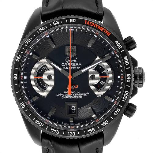 Photo of Tag Heuer Grand Carrera 44 Caliber 17 Titanium Black PVD Watch CAV518B
