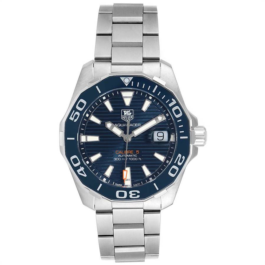 Tag Heuer Aquaracer Blue Dial Automatic Steel Mens Watch WAY211C SwissWatchExpo