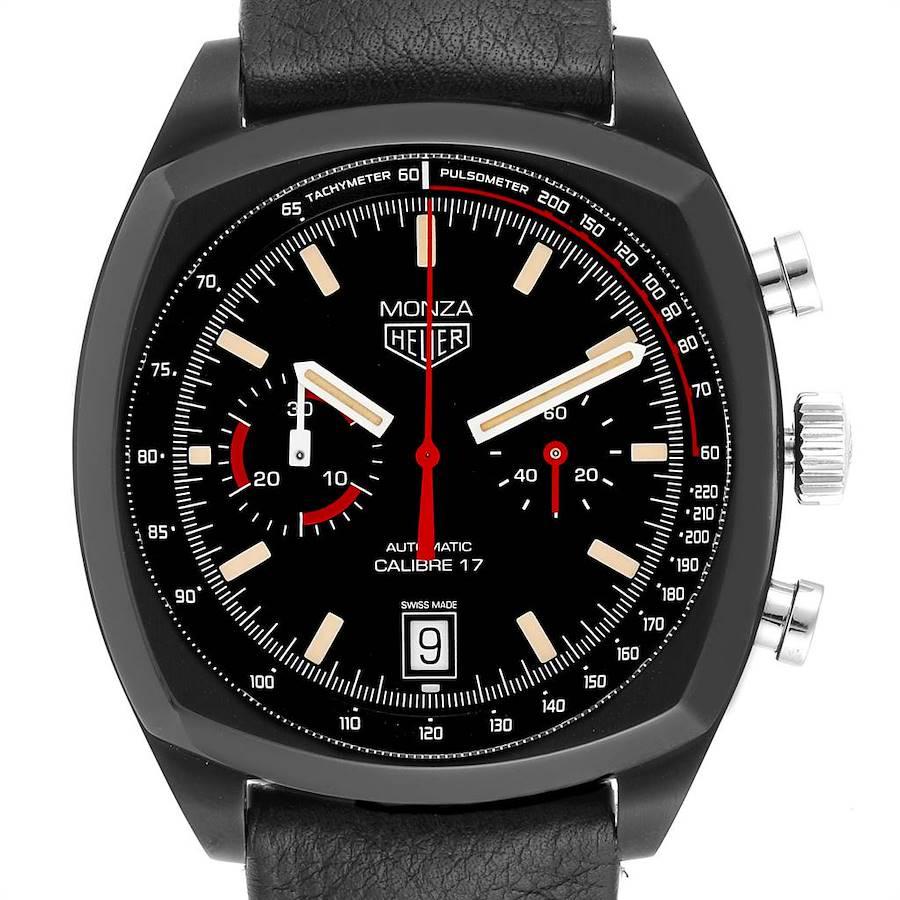 Tag Heuer Monza Heitage Calibre 17 Titanium PVD Chrono LE Watch CR2080 SwissWatchExpo