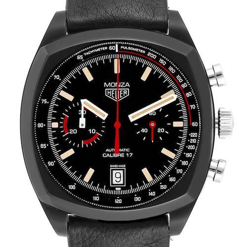 Photo of Tag Heuer Monza Heitage Calibre 17 Titanium PVD Chrono LE Watch CR2080