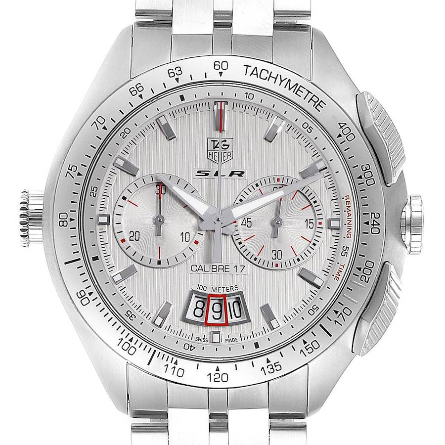 Tag Heuer SLR Chronograph Automatic Steel Mens Watch CAG2011 Box Card SwissWatchExpo