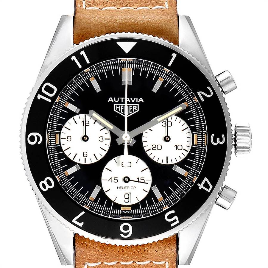 Tag Heuer Autavia Heritage Chronograph Mens Watch CBE2110 Box Card SwissWatchExpo