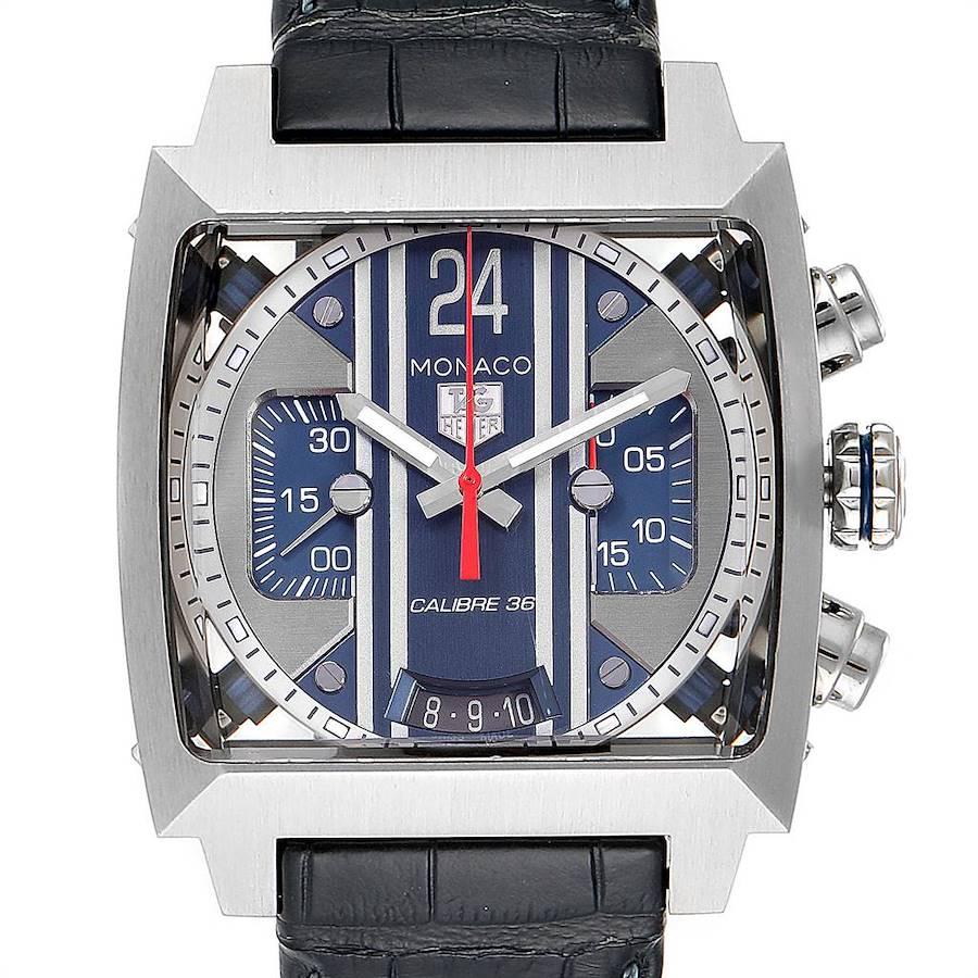 Tag Heuer Monaco 24 Steve McQueen Automatic Chronograph Watch CAL5111 SwissWatchExpo