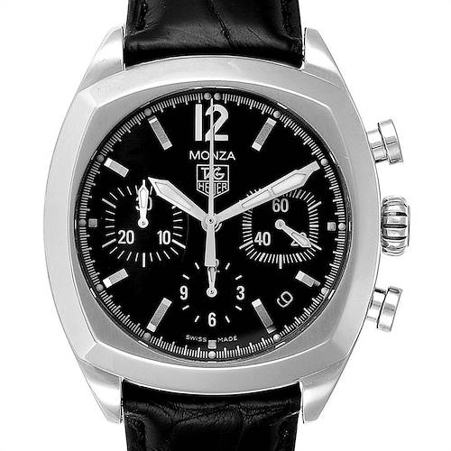 Photo of Tag Heuer Monza Black Dial Chronograph Steel Mens Watch CR2113