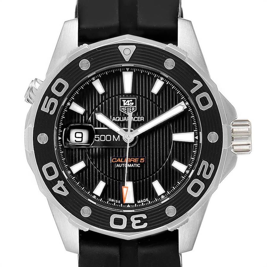 Tag Heuer Aquaracer Calibre 5 500M Steel Mens Watch WAJ2110 SwissWatchExpo