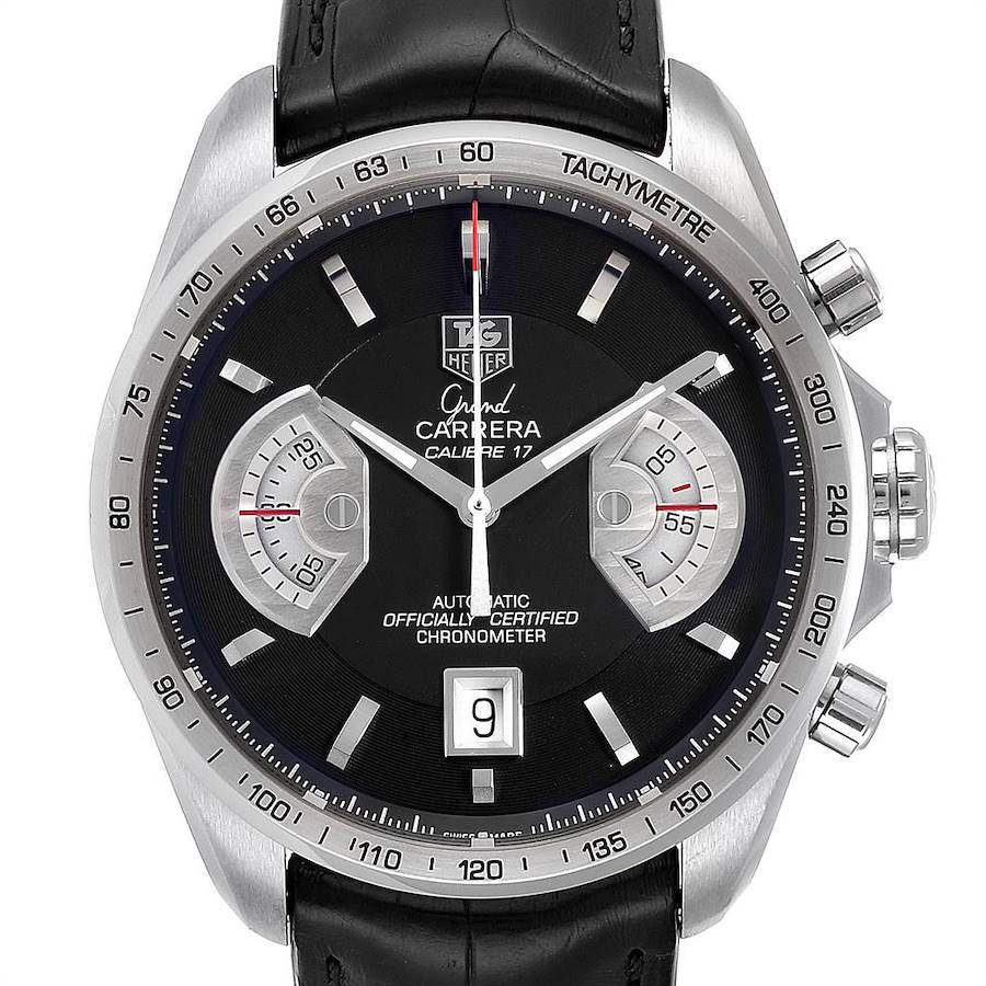 Tag Heuer Grand Carrera Black Dial Automatic Mens Watch CAV511A SwissWatchExpo