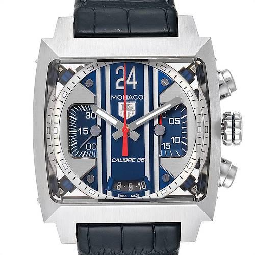 Photo of Tag Heuer Monaco 24 Steve McQueen Chronograph Watch CAL5111 Box Card