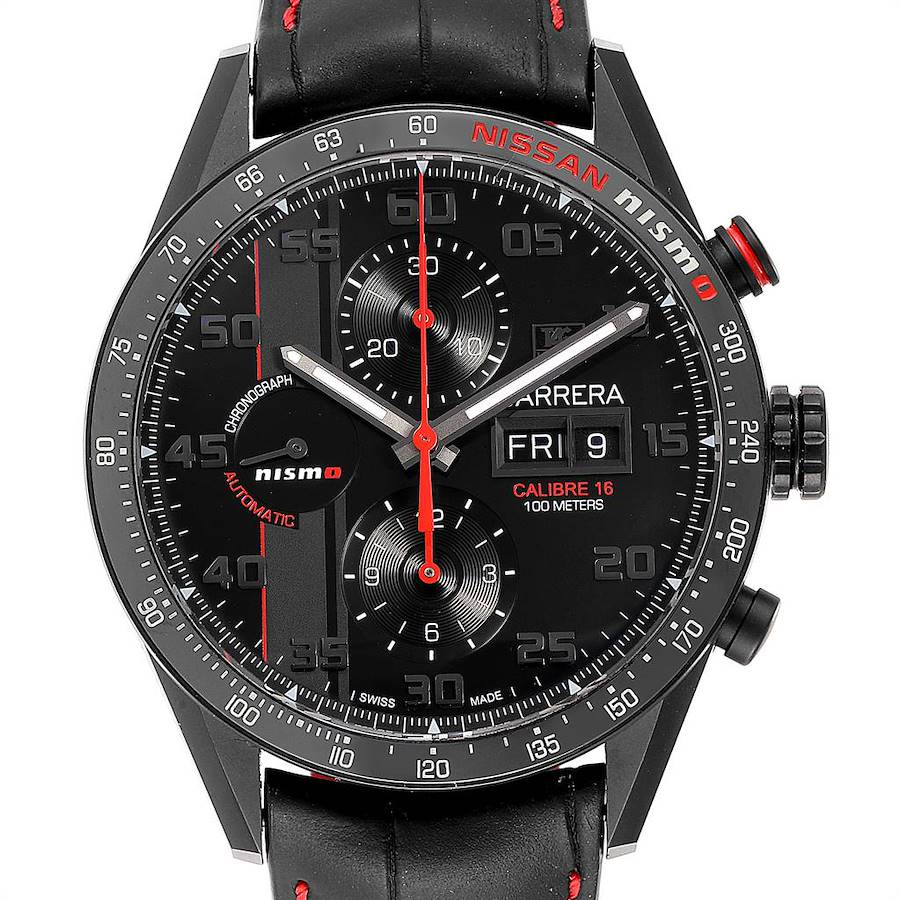 Tag Heuer Carrera Day Date Special Edition Nissan NISMO Mens Watch CV2A82 SwissWatchExpo