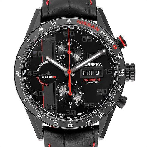 Photo of Tag Heuer Carrera Day Date Special Edition Nissan NISMO Mens Watch CV2A82