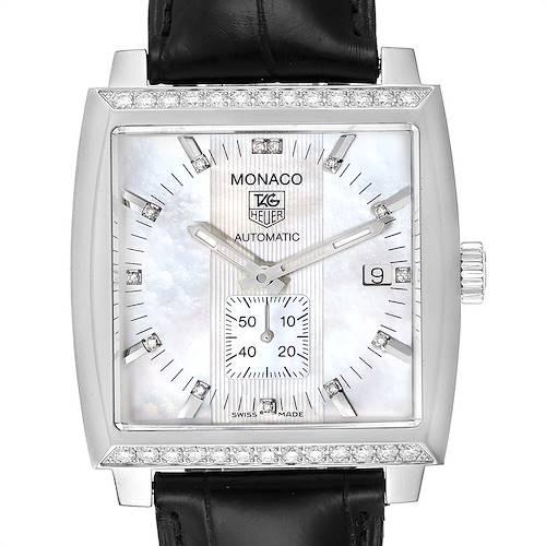 Photo of Tag Heuer Monaco Mother of Pearl Diamond Mens Watch WW2114