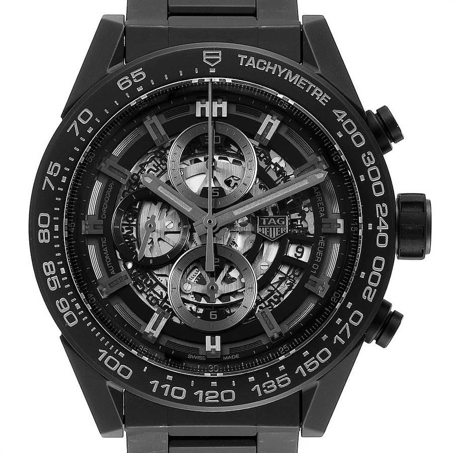 TAG Heuer Carrera Calibre 01 Skeleton Ceramic Watch CAR2A91 Box Card SwissWatchExpo