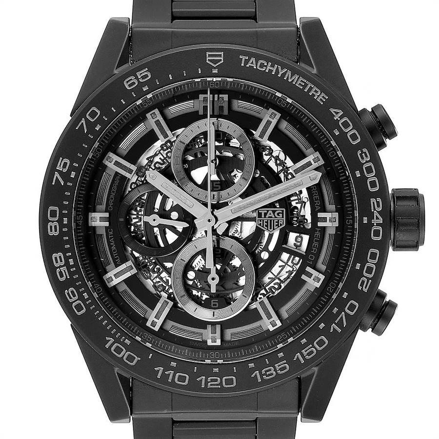 TAG Heuer Carrera Calibre 01 Skeleton Ceramic Watch CAR2A91 Unworn SwissWatchExpo