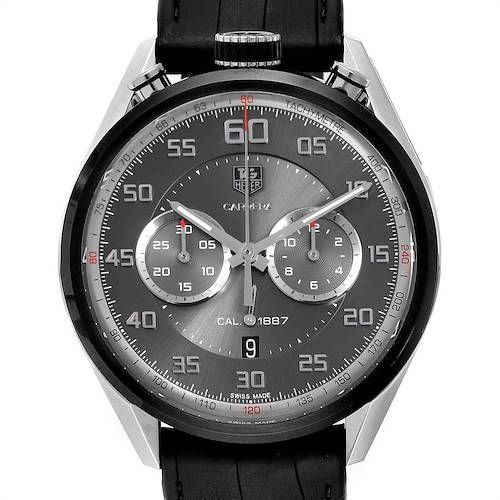 Photo of Tag Heuer Carrera Chronograph Gray Dial Mens Watch CAR2C12 Box Card