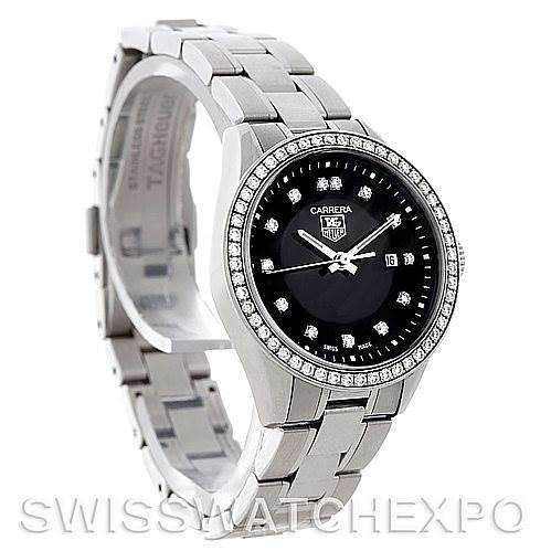 TAG Heuer Carrera Ladies Diamond Watch WV1412.BA0793 SwissWatchExpo