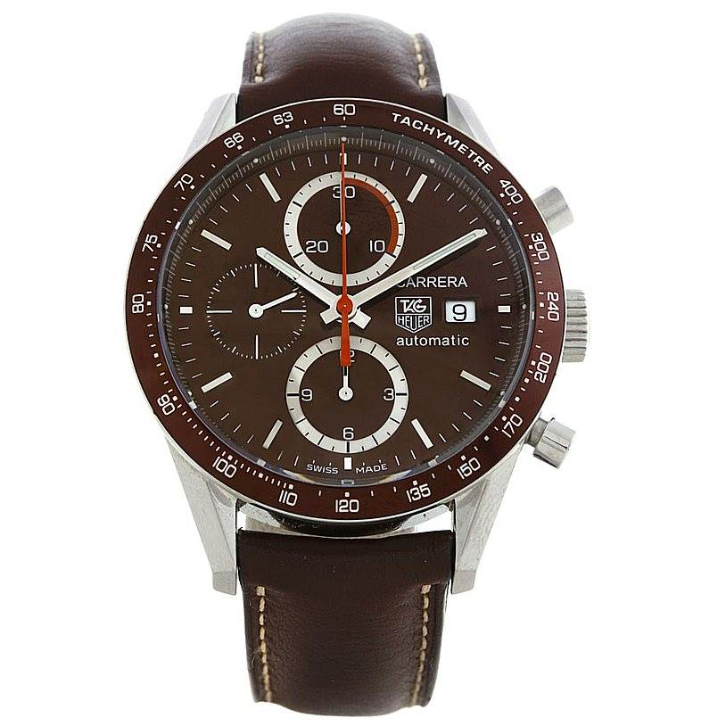 5646 Tag Heuer Carrera Chronograph Automatic Mens Watch CV2013 SwissWatchExpo