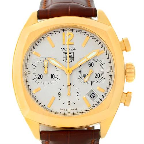 Photo of Tag Heuer Monza Chronograph 18K Yellow Gold Watch CR514A.FC8145