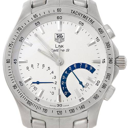 Photo of Tag Heuer Link Calibre S Chronograph Steel Mens Watch CJF7111
