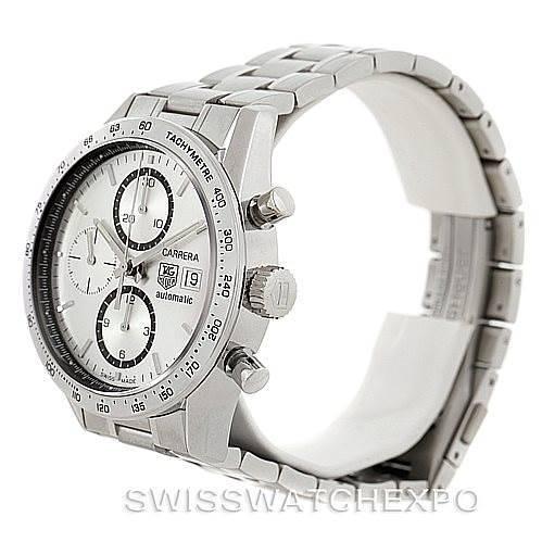 Tag Heuer Carrera Chronograph Steel Mens Watch CV2017 Unworn SwissWatchExpo