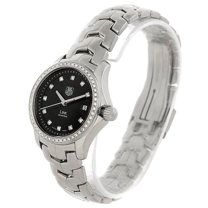 Tag Heuer Link Steel Diamond Ladies Watch WJF131A.BA0572 SwissWatchExpo