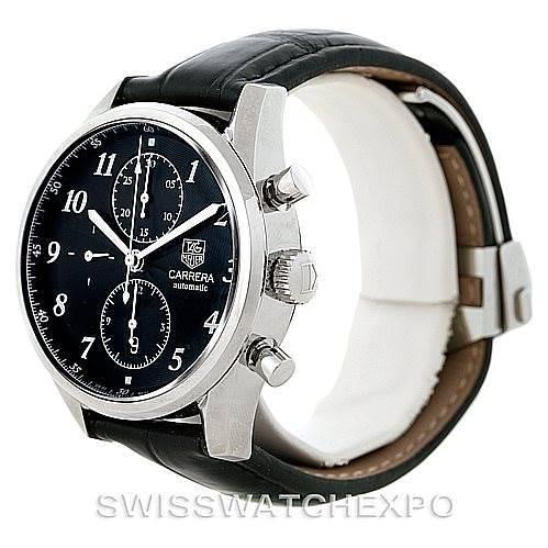 Tag Heuer Carrera Chronograph Steel Mens Watch CAS2110 SwissWatchExpo