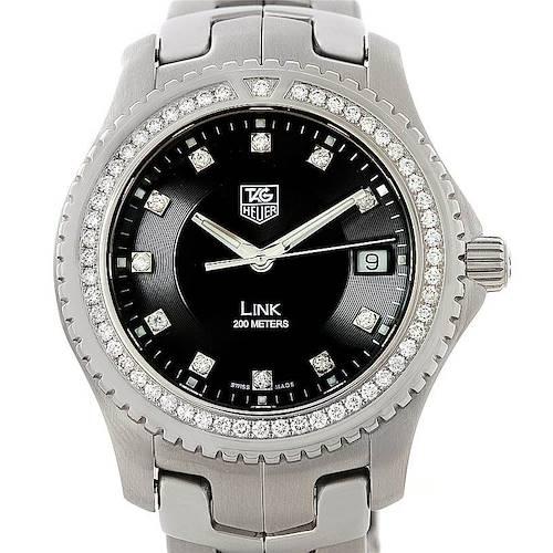 Photo of TAG Heuer Link Steel Black Diamond Dial Mens Watch WJ1117
