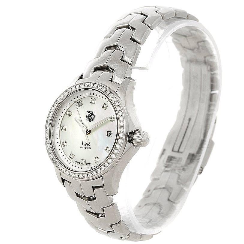 TAG Heuer Link Steel Diamond Ladies Watch WJF1319 SwissWatchExpo
