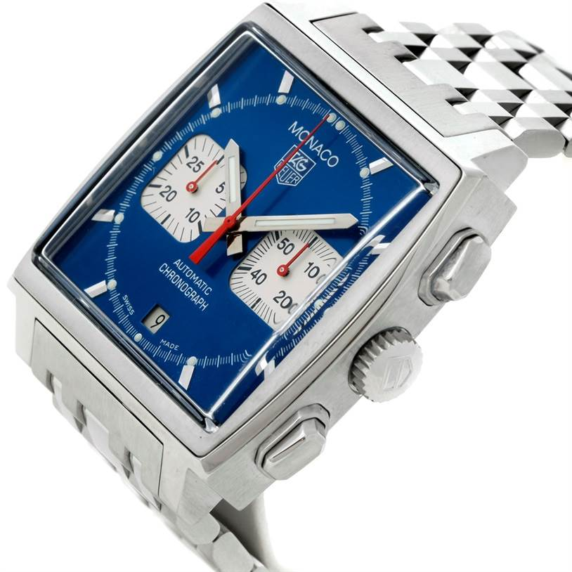 8557 Tag Heuer Monaco Automatic Chronograph Mens Watch CW2113 SwissWatchExpo